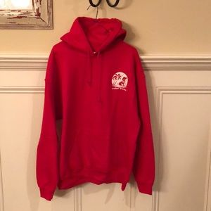 New large red hoodie - Outer Banks, NC logo